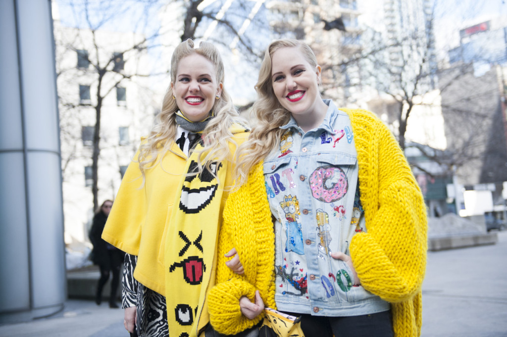 The Beckerman twins bring a breathe of fresh air to the streetstyle. They are genuine with their smile and I love their energy.