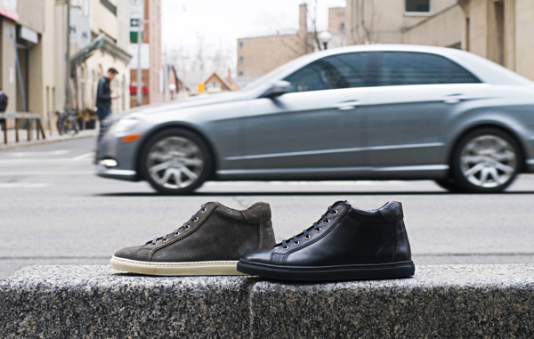600 Bloor Black and Gray High Top
