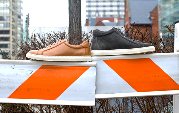 600 Orange Barricade Brown and Gray Shoes