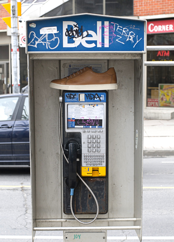 600 Phone Booth Brown Shoe