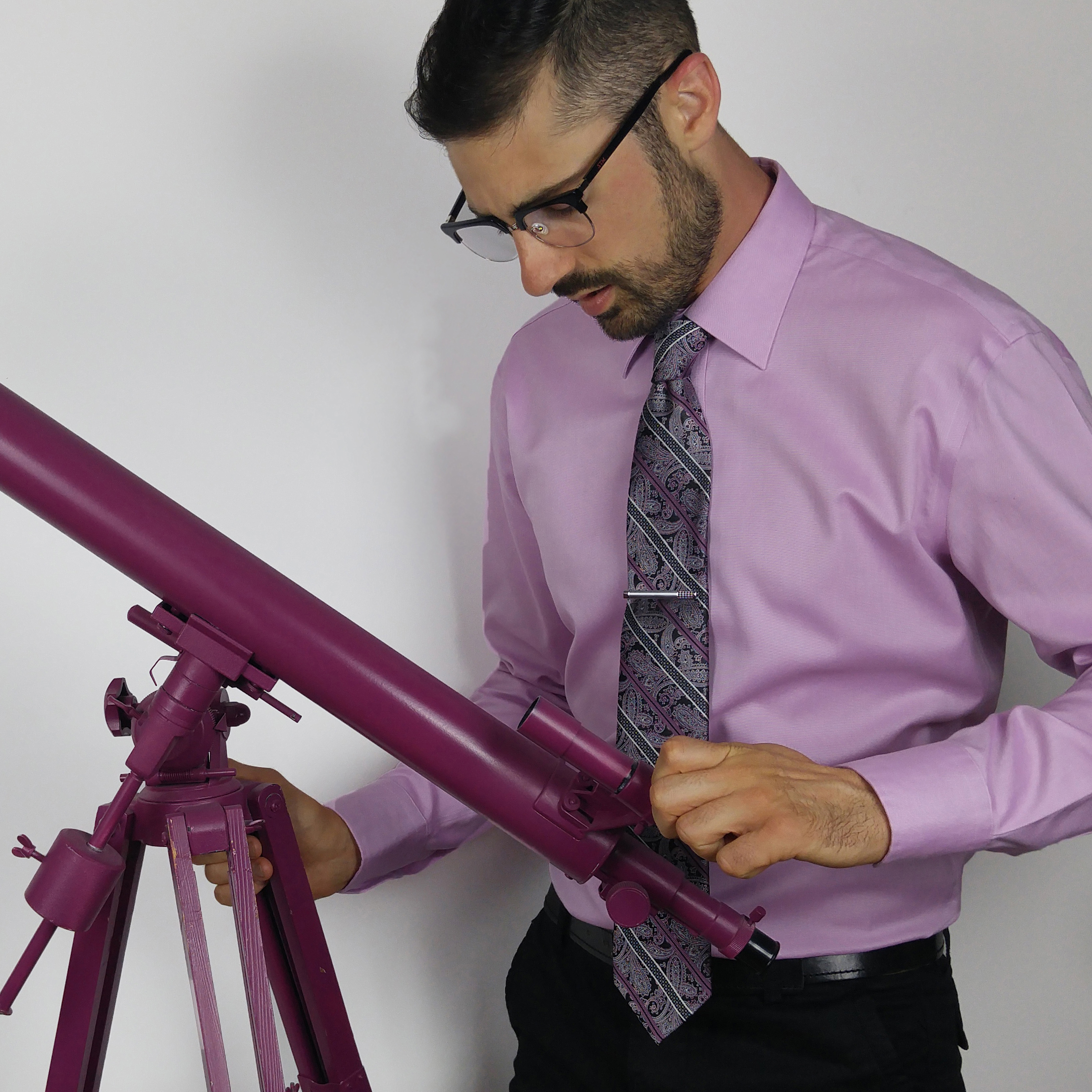 Purple Tie Telescope